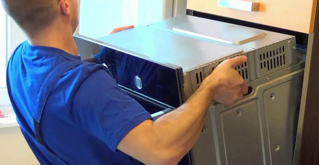 Установить духовой шкаф своими руками bosch